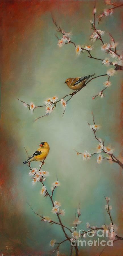 Songbird Painting - Spring Dream by Lori  McNee