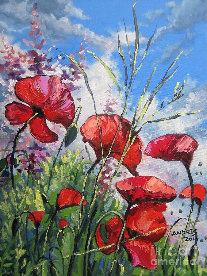 Poppies Painting - Spring Enchantement by Andrei Attila Mezei