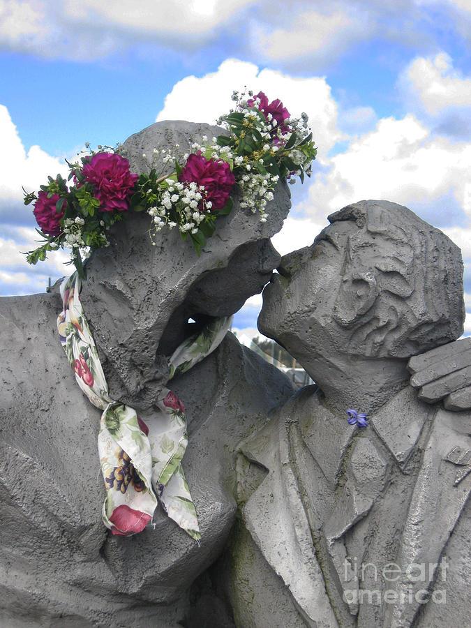 Spring Photograph - Spring Equinox Kiss by Ellen Miffitt