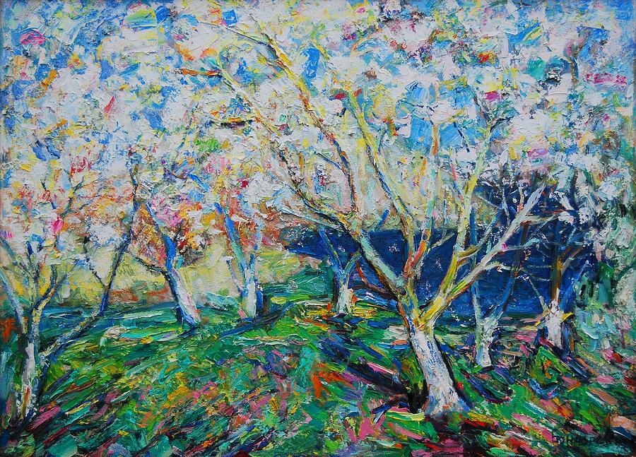 Flowering Trees Painting - Spring by Evgen Bondarevskiy
