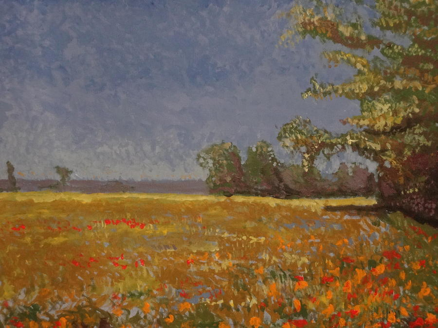 Impressionism Painting - Spring Field by Paul Benson