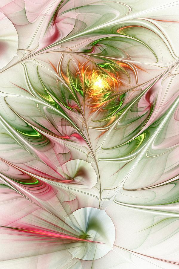 Plant Digital Art - Spring Flower by Anastasiya Malakhova