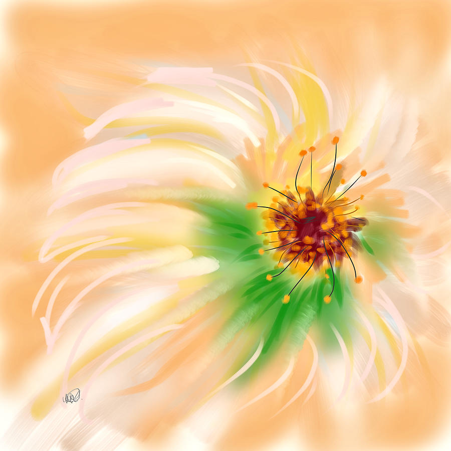 Ipad Painting - Spring Flower by Angela A Stanton