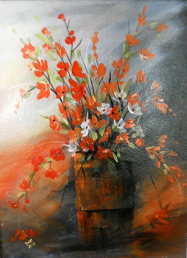 Spring Flower Bouquet Painting by Dorothy Maier