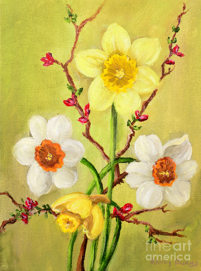 Spring flowers 2 painting by randy burns spring painting spring flowers 2 by randy burns mightylinksfo