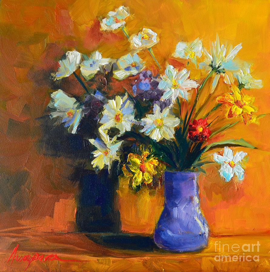 Spring flowers in a vase painting by patricia awapara artwork painting spring flowers in a vase by patricia awapara reviewsmspy