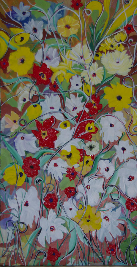 Spring Painting - Spring Flowers by Sima Amid Wewetzer