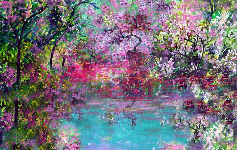 Spring Garden I Painting By Anne Hamilton
