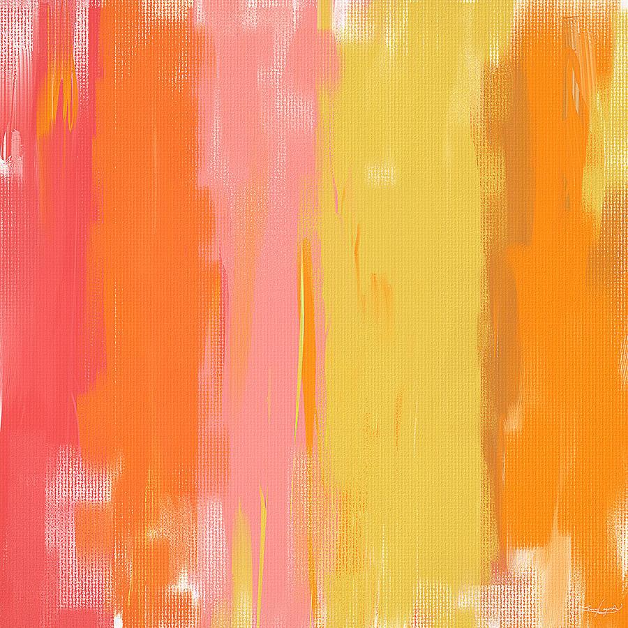 Peach Painting - Spring Garden by Lourry Legarde