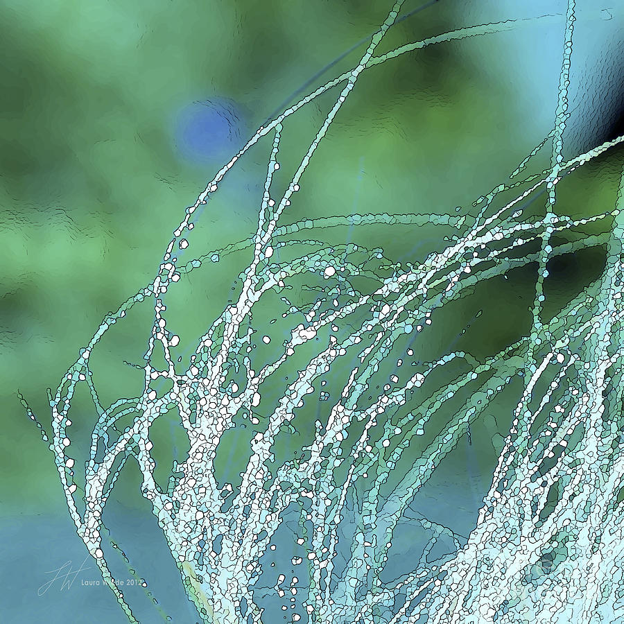 Grass Painting - Spring Grass by Artist and Photographer Laura Wrede