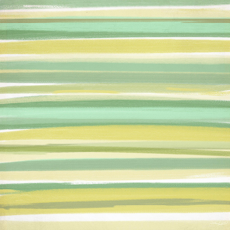 Light Green Painting - Spring Green by Lourry Legarde