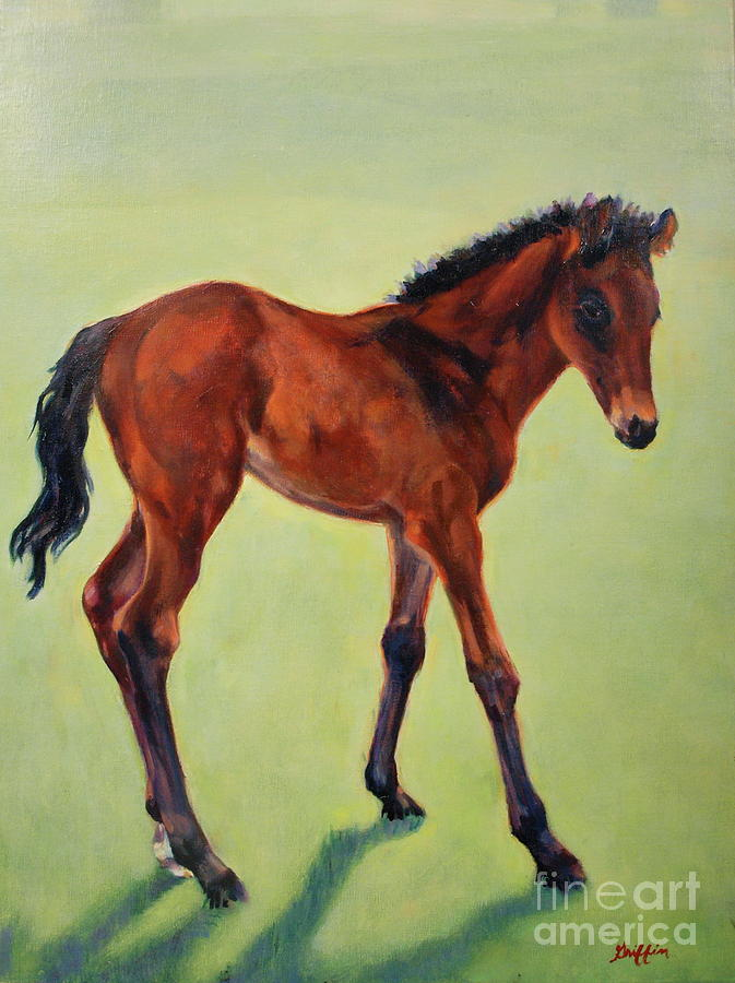 Colt Painting - Spring Green by Patricia A Griffin