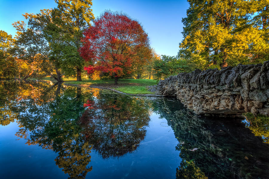 Landscape Photograph - Spring Grove In The Fall by Keith Allen