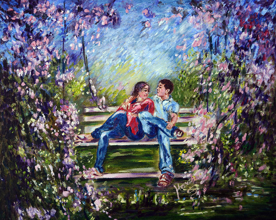 Lovers Painting - Spring by Harsh Malik