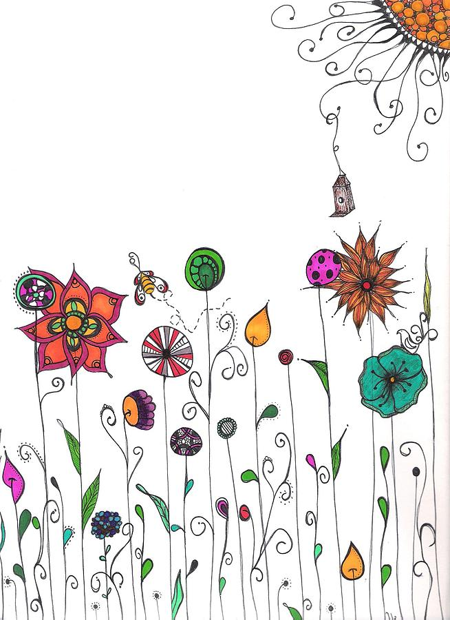 Spring Drawing - Spring Has Sprung by Lori Thompson