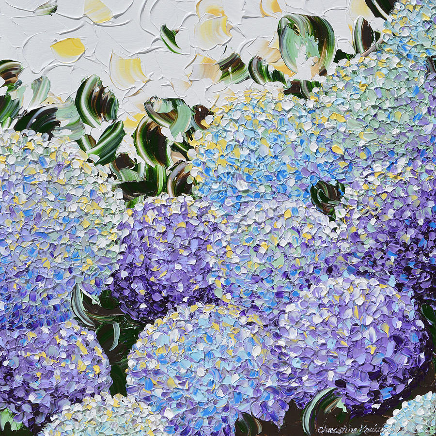 Flowers Painting - Spring Hydrangea by Christine Bell