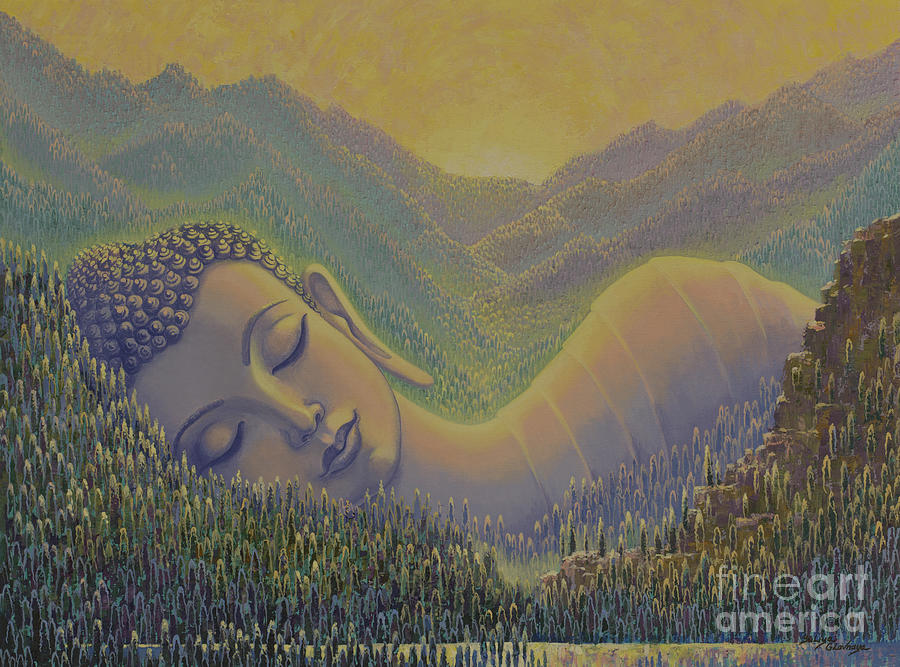 Himalayas Painting - Spring in Himalayas by Yuliya Glavnaya