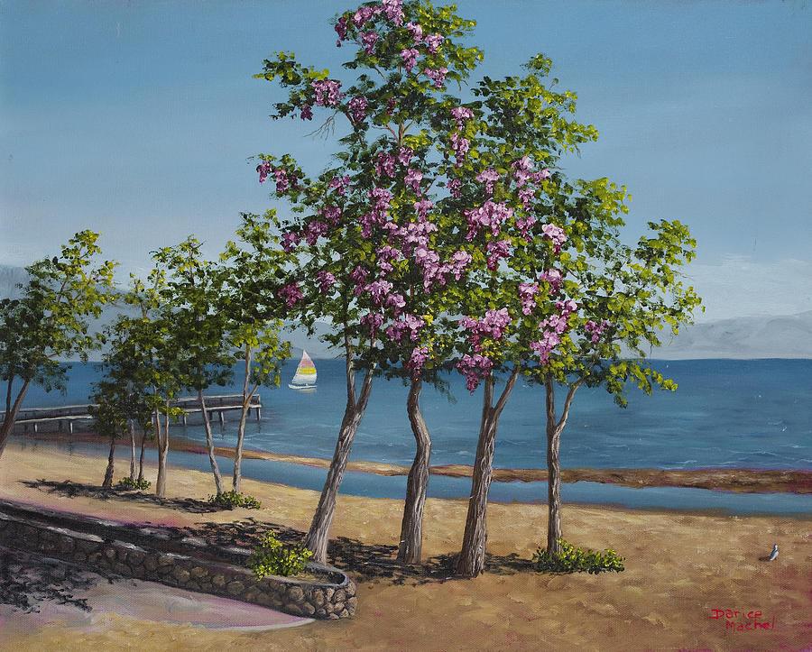 Landscape Painting - Spring In Kings Beach Lake Tahoe by Darice Machel McGuire