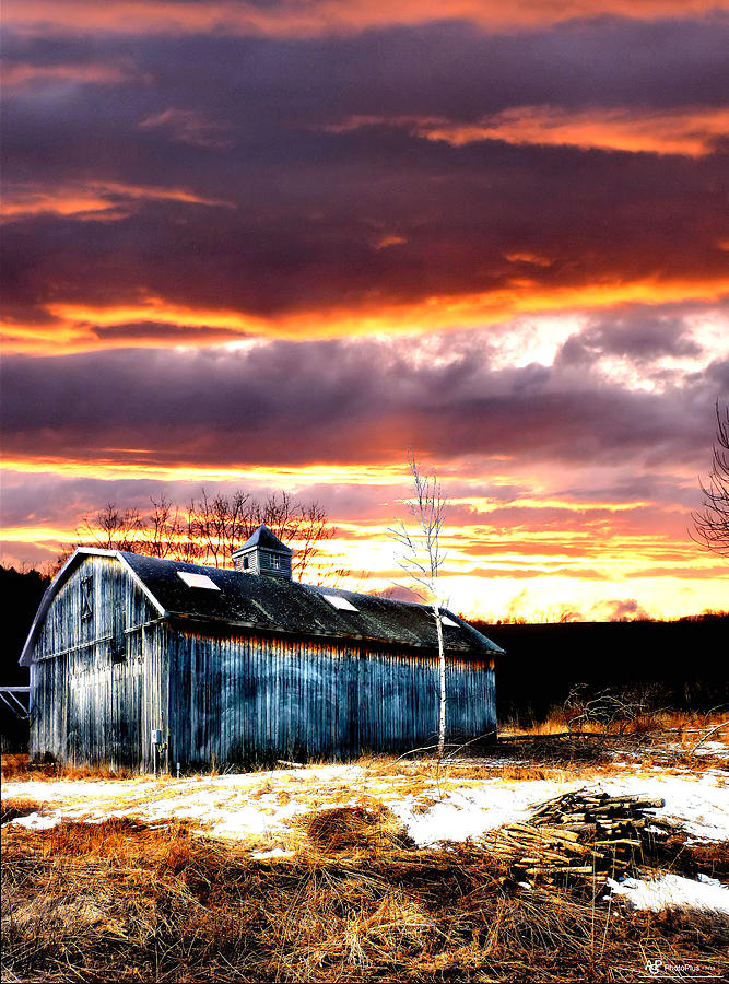 Barns Photograph - Spring In New England by Fred LaPoint