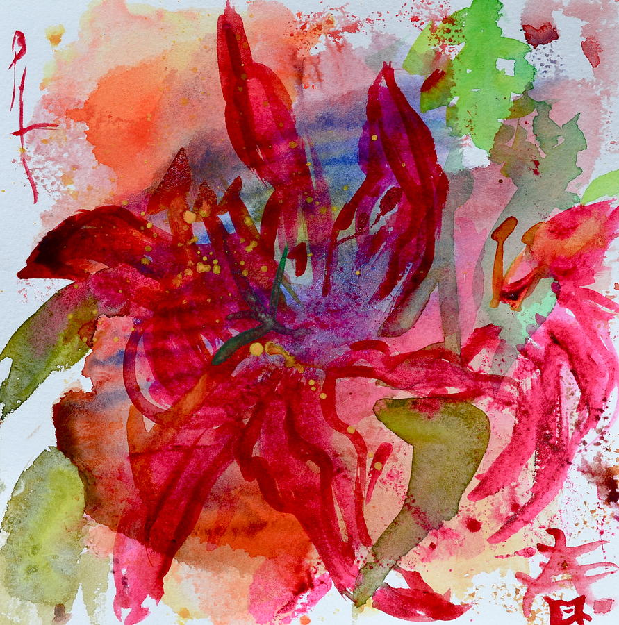 Lily Painting - Spring Is A Messy Business by Beverley Harper Tinsley