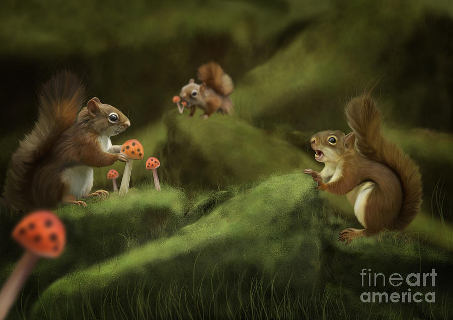 Digital Painting Painting - Spring by Ivan  Pawluk