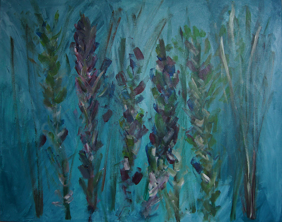 Turquoise Painting - Turqouise Spring by Jessie Nolan