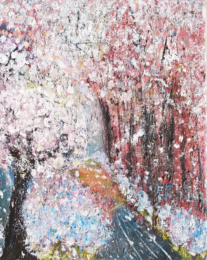 Landscape Painting - Spring Landscape by Evelina Popilian