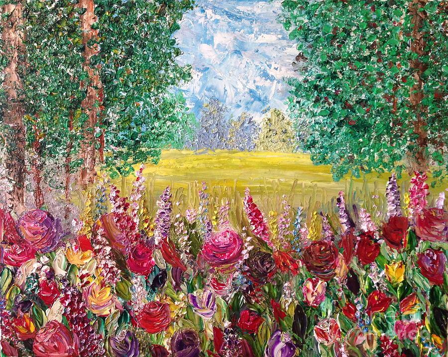 Roses Painting - Spring Meadows by Janie Kraemer