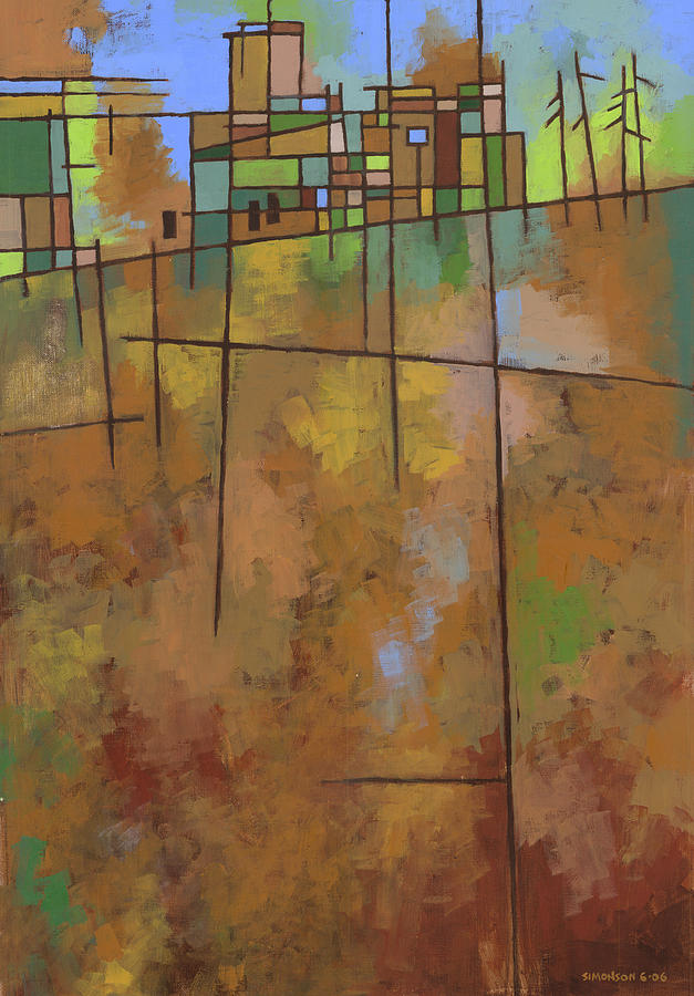 Abstract Painting - Spring Melt by Douglas Simonson