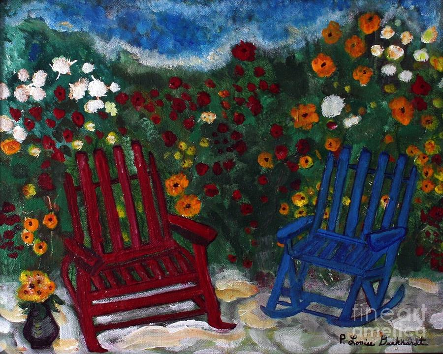 Spring Scenery Painting - Spring Memories by Louise Burkhardt