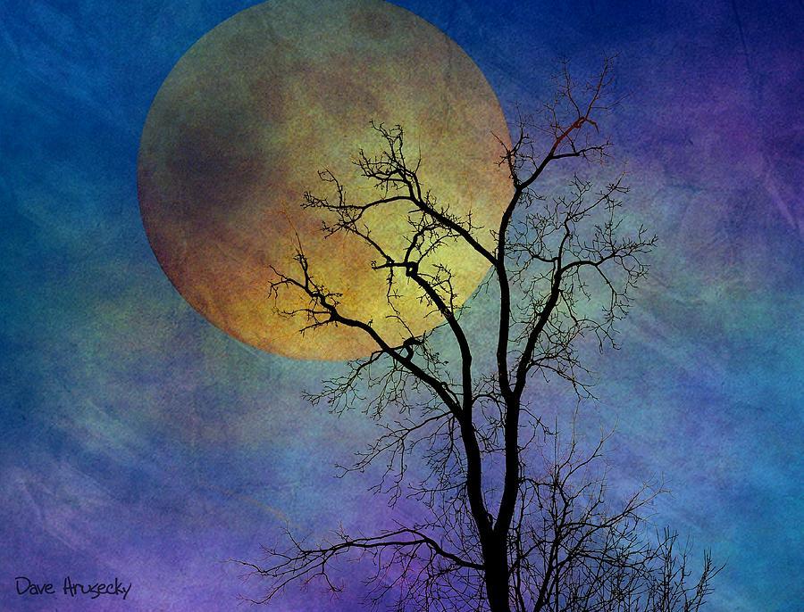 Moon Photograph - Spring Moon by Dave Hrusecky