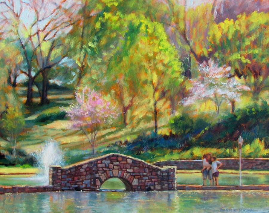 Bonnie Mason Painting - Spring Morning by Bonnie Mason