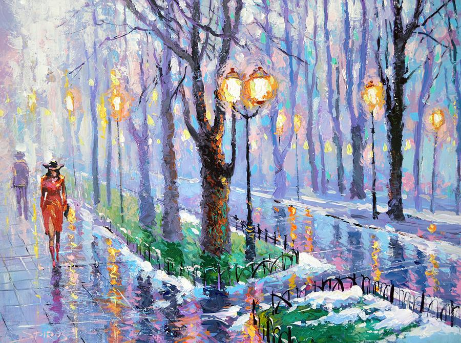 Spring Park Painting by Dmitry Spiros