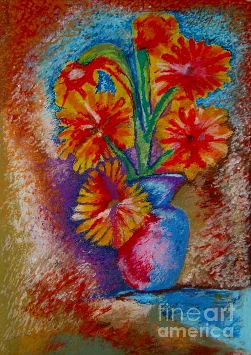 Oil Pastels Drawings Pastel - Spring Pleasures by Jon Kittleson