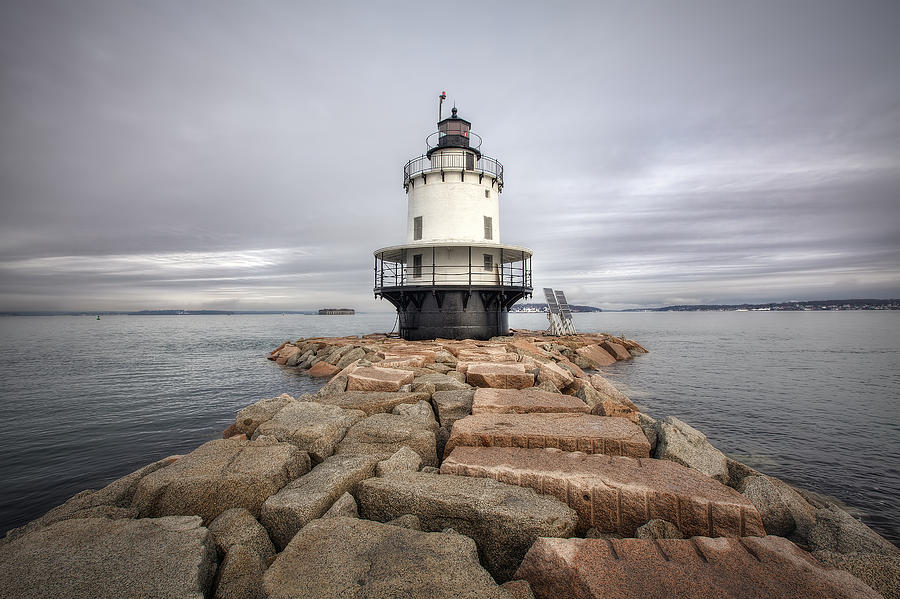Lighthouse Photograph - Spring Point Ledge by Eric Gendron