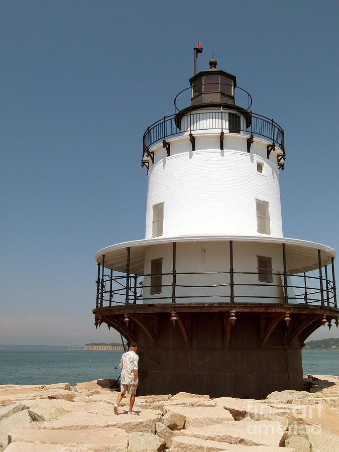 Casco Bay Photograph - Spring Point Ledge Lighthouse  In South Portland Maine by Christine Stack
