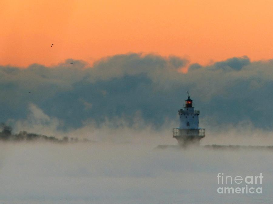 Spring Point Photograph - Spring Point Sea Smoke by Christine Stack
