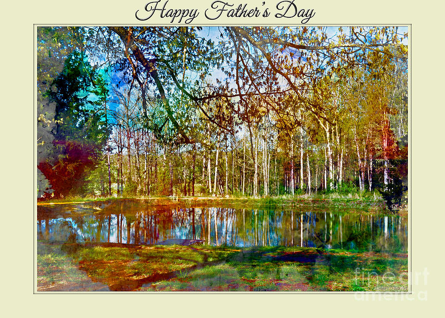 Nature Photograph - Spring Pond Photoart Fathers Day by Debbie Portwood