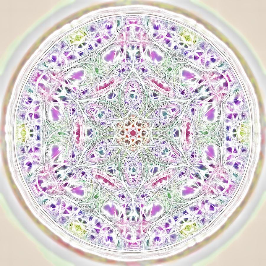 Mandala Photograph - Spring Renewal Mandala by Beth Sawickie