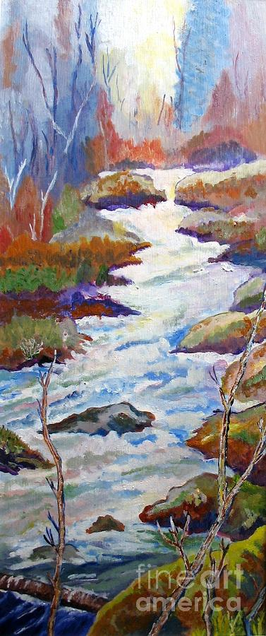 Rushing River Painting - Spring River Rushing by Frank Giordano