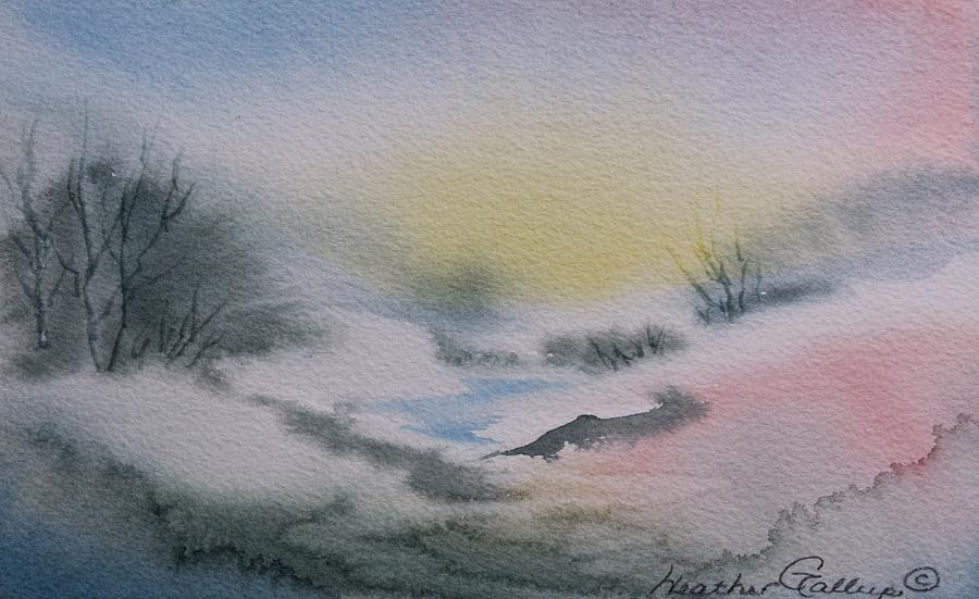 Spring Runoff Painting - Spring Runoff by Heather Gallup