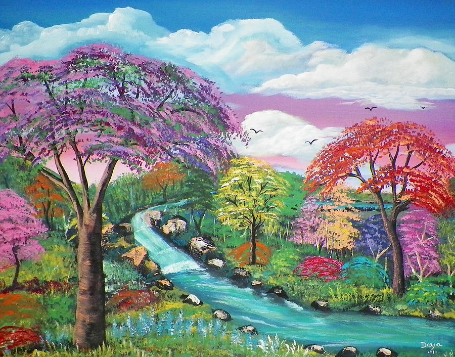 Canvas Painting Spring Season