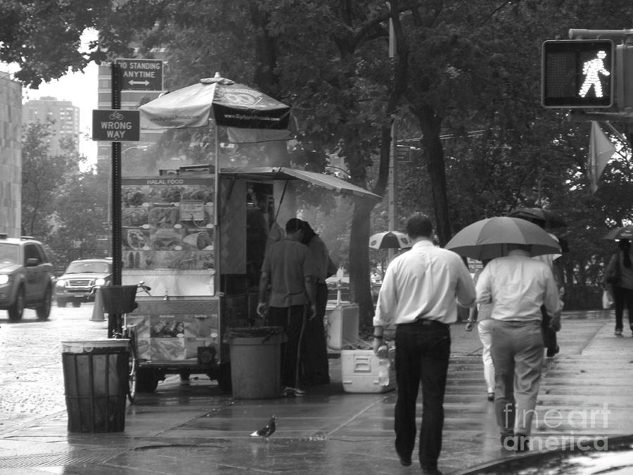 Design Photograph - Spring Shower - Rainy Day In New York by Miriam Danar