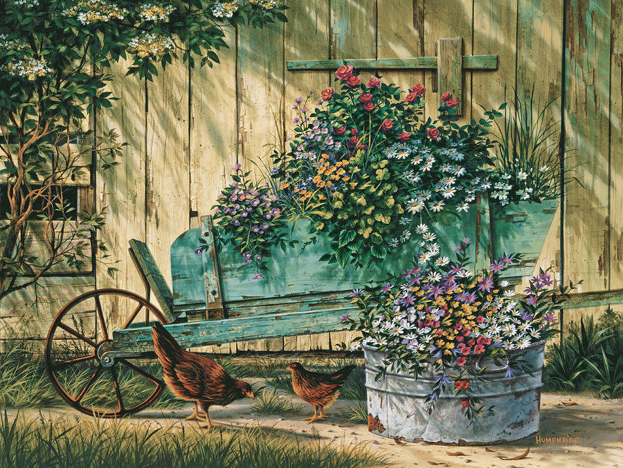 Michael Humphries Painting - Spring Social by Michael Humphries