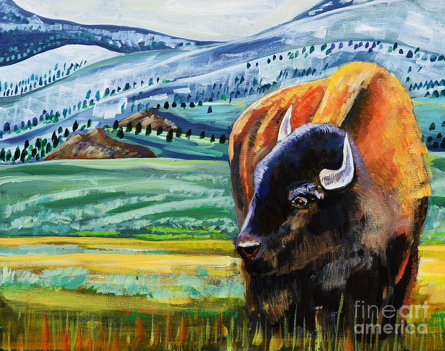 Bison Painting - Spring Storm by Harriet Peck Taylor