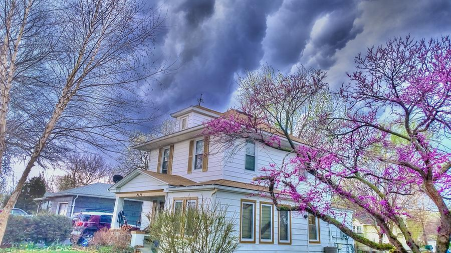Thunderstorm Photograph - Spring Storm by Larry Bodinson