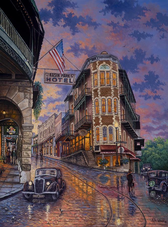 Eureka Springs Painting - Spring Street Memories by Kyle Wood