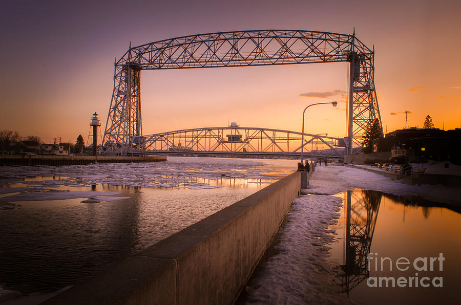 Duluth Photograph - Spring Sunset In Canal Park by Ever-Curious Photography