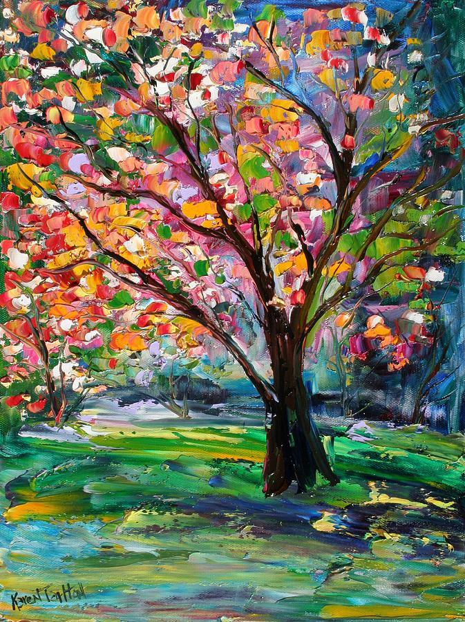 Spring Tree Of Life Painting By Karen Tarlton