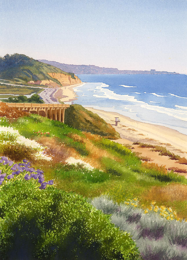 California Painting - Spring View Of Torrey Pines by Mary Helmreich